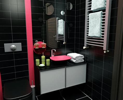 red and black bathroom decor bathroom pinterest bathroom in black design ideas home decor ideas