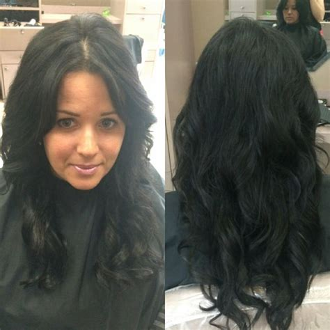 Halo Hair Extension With Chin Lenght Hair | halo hair extensions blended beautifully even on chin