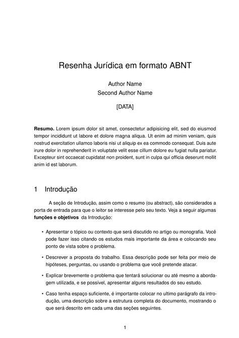Resenha Jurídica em formato ABNT - FastFormat