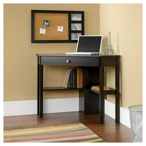 Beginnings Corner Computer Desk Cinnamon Cherry Sauder