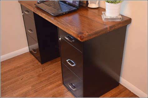 diy desk with filing cabinets home design ideas