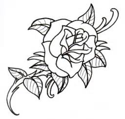 Old_School_Rose_Outline_by_vikingtattoo floral wire stems 13 on floral wire stems