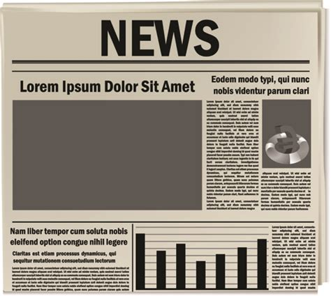newspaper layout software free download creative newspaper design elements vector set 03 vector