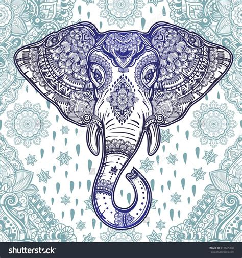 elephant pattern wallpaper beautiful bohemian elephant paisley seamless ornament