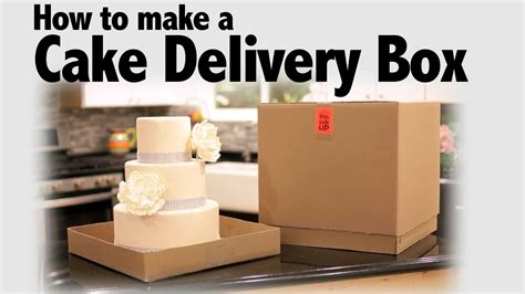 How To Make A Big Gift Box Out Of Paper - how to make a cake delivery box cake business tips