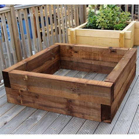 brown eco treated softwood raised bed kit buy