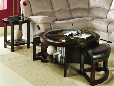 glass top ottoman coffee table special round ottoman coffee table for elegant style