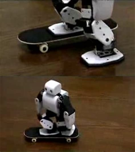 Plen The Skateboarding Robot by Plen Keeps Trim N Fit With Skating Activities