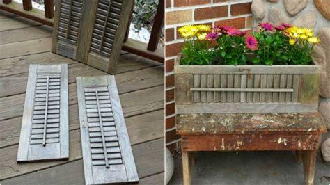 costruire persiane fai da te come riciclare le persiane di legno per creare vasi per