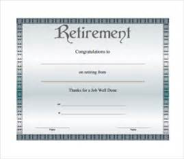 Retirement Template Free by Retirement Certificate Template 6 Documents In