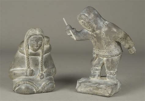 Soapstone Canada by 2 Abbott Canada Soapstone Inuit Carvings