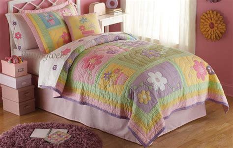 girls bedding twin sweet helen twin quilt sham girls flower bedding set new