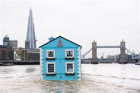 air bnb tiny house airbnb launches floating house on the thames creative review