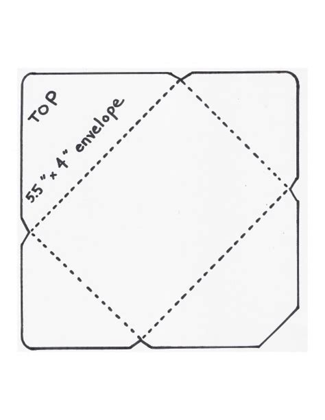 envelope folding template