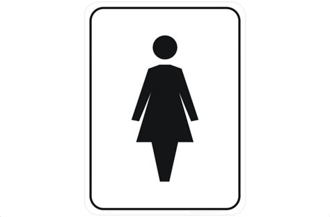 ladies bathroom female toilet in1639 national safety signs