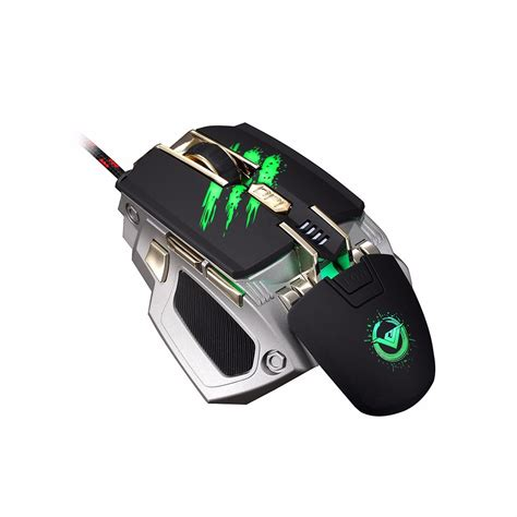 Mouse Macro F6 rajfoo adjustable 4000dpi 7 usb wired laser gaming mouse support macro setting sale