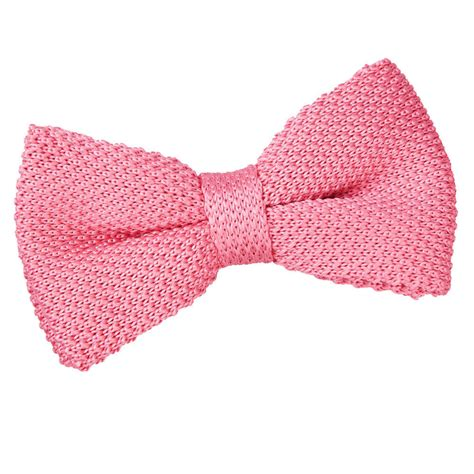 knit bow tie s knitted strawberry pink bow tie