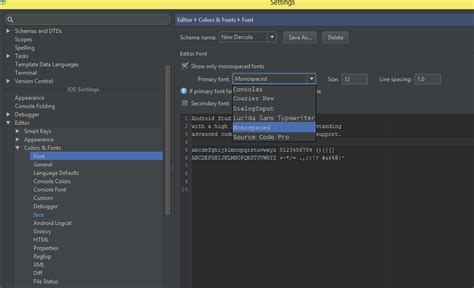 theme editor in android studio import custom font theme into android studio editor fonts