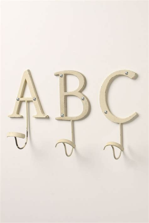 Wall Hooks Letters Letter Hooks Anthropologie 14 Our Front