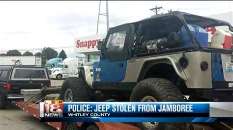 police jeep police looking for jeep stolen from jeep jamboree quadratec