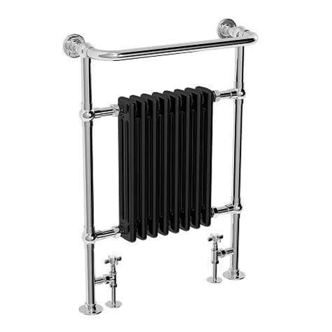 traditional heated towel rails for bathrooms jupiter bathrooms traditional chrome and black heated