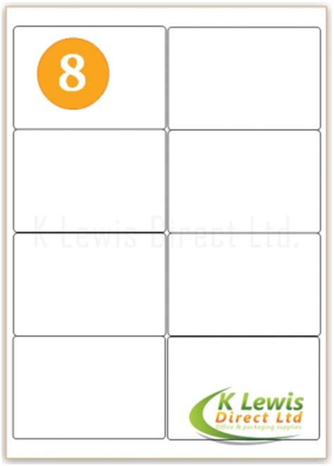 label template j8165 self adhesive sticky peel address labels 8 labels per a4