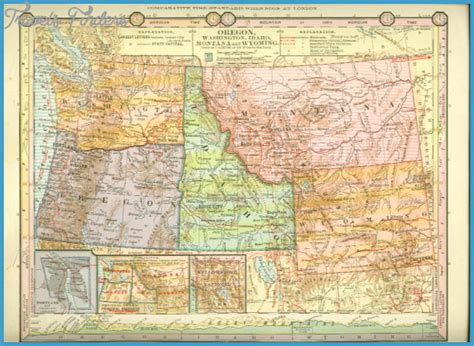 wyo road map road map of idaho and wyoming map