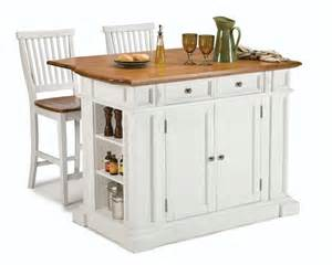 home styles 206 lot de cuisine avec 2 tabourets blanc