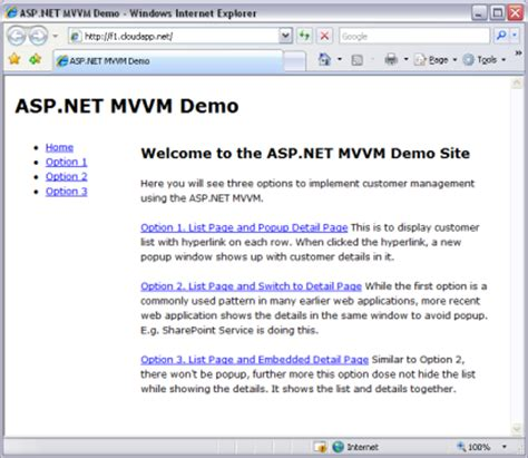 mvvm pattern asp net presentation model and dependency injection codeproject