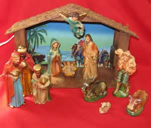 lighted sets nativity set lighted musical 15 pieces sears nativity original