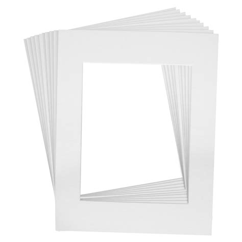 10 X 14 Picture Mat - 11 in x 14 in matte white picture mat frame w white