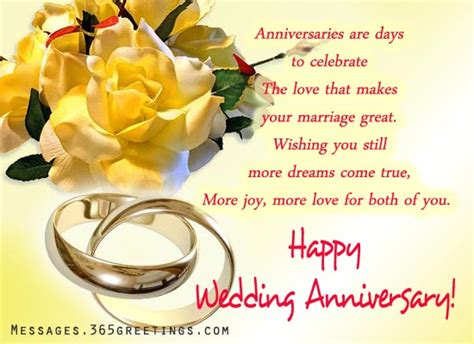 Wedding Anniversary Greetings For And In by Wedding Anniversary Wishes And Messages 365greetings