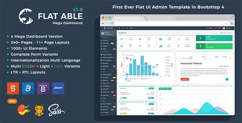 free bootstrap themes bower flat able bootstrap 4 admin template theme for u