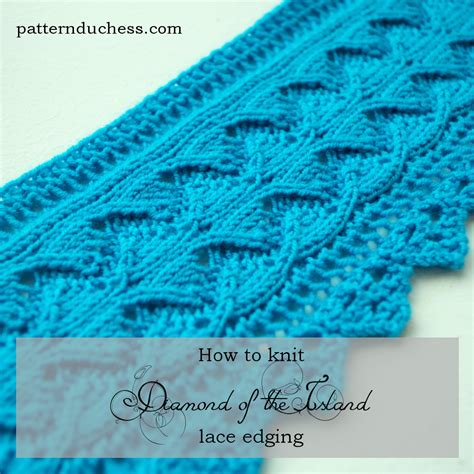 knitting edge stitch of the island lace edging pattern pattern duchess
