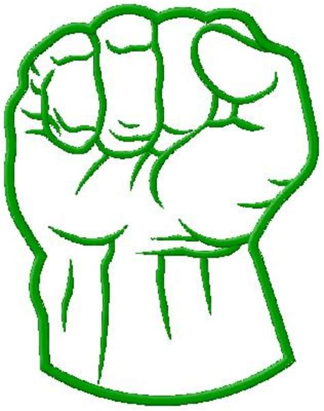 Hulk Hand Coloring Page | hulk fist machine applique design in 4 sizes shoply