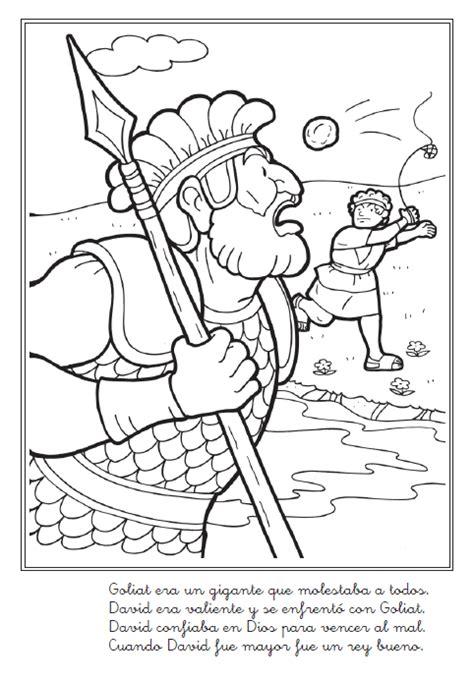 imagenes de historias biblicas para niños para colorear historia b 237 blica de david y goliat para colorear mi vida