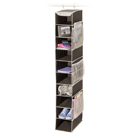 hanging shoe caddy black denier ten shelf shoe organizer in hanging shoe