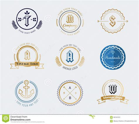 retro icons 20 free sets for vintage themed designs vintage old style shield logo icon template set stock