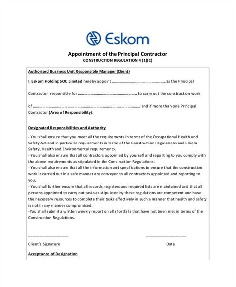 representative appointment letter template appointment letter management representative business