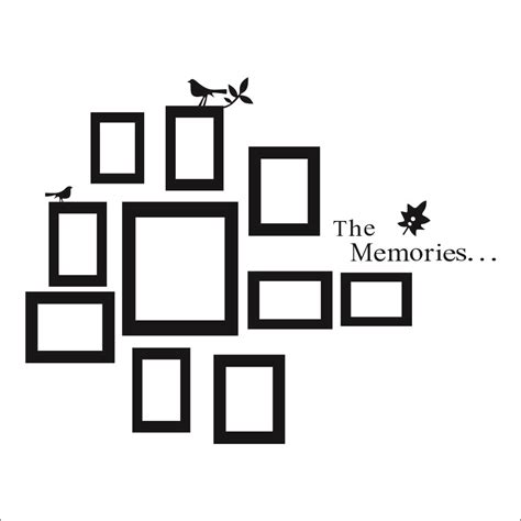 picture frame wall sticker 10x picture photo frame wall mural frames sticker vinyl