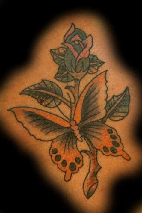 butterfly rose tattoo from best ink 35 best ink american tattoos images on