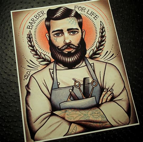 parlor tattoo prints barber for print