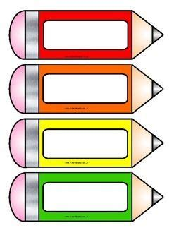 Free Color Crayon Name Card Template by Free Printable Pencil Accents From Instant Display