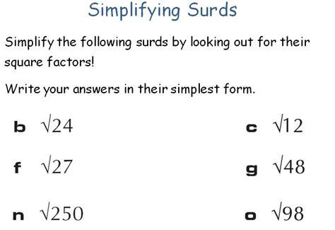 surds maths teaching