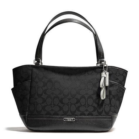 Coach Bag Black by Authentic Coach Black Park Signature Carrie Purse Handbag Tote Satchel F23297 Ebay