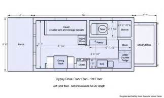Tiny Homes On Wheels Floor Plans Tiny House On Wheels Floor Plans Floor Plan 1st
