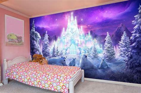 disney frozen wallpaper for bedroom frozen ice wallpaper mural for girls grand babies