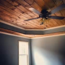 tongue and groove tray ceiling mobile home living