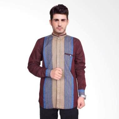 Koko Pria Maroon jual daily deals fayruuz baju koko lengan panjang muslim