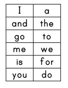 printable flashcards high frequency words montessori on pinterest montessori preschool practical